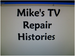 TV Repair case histories